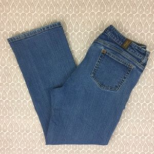 Aura Jeans By Wrangler Womans Bootcut Size 14R E54